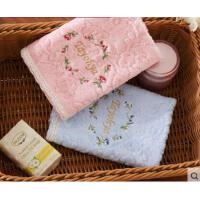 超强吸水舒适透气棉吸水柔软情侣毛巾时尚唯美花朵细腻印提面巾礼盒