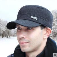 冬季男士帽子韩版保暖平顶帽秋冬护耳时尚帽潮中老年人帽