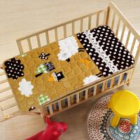 儿童幼儿园法兰绒床褥水洗卡通垫被床铺垫被褥婴儿床垫可