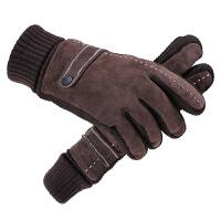 男冬天骑行摩托车皮手套冬季保暖加绒加厚骑车男士棉 均码