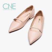 CNE2019春夏新款晚晚鞋日系甜美尖头平底玛丽珍鞋女单鞋AM12708