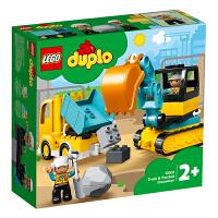 LEGO�犯叻e木 得��DUPLO系列 10931 翻斗�和挖掘�套�b 玩具�Y物