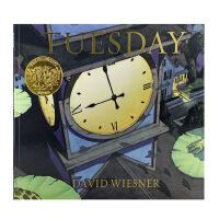 【中商原版】凯迪克 疯狂星期二 无字书绘本英文原版Tuesday 大卫・威斯纳 1992年凯迪克金奖