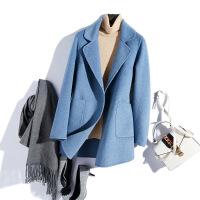 双面呢羊毛大衣女中长款2018秋季毛呢小外套韩版新款呢大衣零羊绒