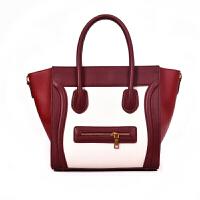 欧美时尚女包包手提包女大包手提包单肩包潮撞色笑脸包