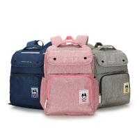 【限时1件5折】卡拉羊双肩包女1-3-4-6初中高中生男新款电脑包学生书包休闲背包 CX5855