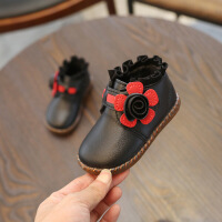 女童靴子2018秋冬新款�和��R丁靴小女孩公主短靴皮靴0����1-3�q2