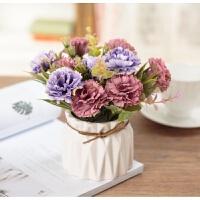假花仿真花束玫瑰花雏菊套装样板房摆件客厅餐桌花艺家居盆栽摆设