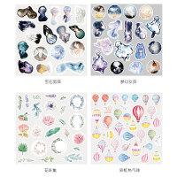 可爱手帐贴纸包小清新ins手账装饰贴纸套装手机可爱韩国创意森女人物唯美素材