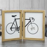 相框创意摆台6寸7寸双开相框木质欧式双面创意连体相架影楼婚纱照