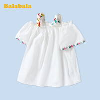 巴拉巴拉童装女童短袖衬衫中大童2020新款夏装儿童衬衣吊带时尚潮