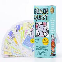 【中商原版】Brain Quest for Threes 4 少儿3-4岁智力问答开发卡英文原版