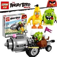 愤怒的小鸟系列 猪车大逃亡拼装积木人仔益智儿童 玩具