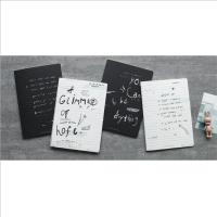 初品 CXB5046-6220D独白式车线本黑色作业本软抄记事本笔记本文具日记本韩式风格学生学习办公单本销售当当自营