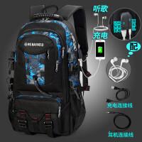 ?双肩包男士商务电脑包旅行大容量瑞士背包休闲潮学生书包?