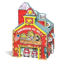 【中商原版】迷你屋系列 消防站 纸板书英文原版Mini House Firehouse Co. No