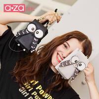 aza包包女2018新款女包猫头鹰链条小包斜挎包可爱手机包