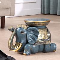 大象换鞋凳子欧式客厅落地摆件实用结婚礼物乔迁新居礼品家居装饰