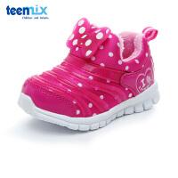天美意(TEENMIX)童鞋小童学步鞋秋冬女童加绒保暖宝宝鞋儿童运动鞋 DX0289