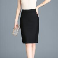 半身裙 女士高腰后开叉职业西装工作半身裙2020年冬季新款韩版时尚潮流女式修身洋气女装包臀裙