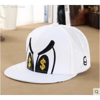 帽子 嘻哈帽 棒球帽 韩版潮见钱眼开鸭舌太阳帽透气棒球网帽子男女士平沿嘻哈帽子