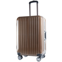 新款铝框拉杆万向轮行李箱旅行箱登机箱海关锁20/24寸深框