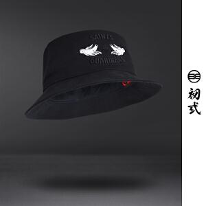 DRACONITE街头潮流混搭和平鸽刺绣潮流渔夫帽子男女时尚盆帽16083