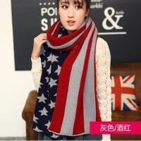 毛线围巾网红同款时尚女长款加厚可爱保暖针织围巾户外运动新品韩国女士披肩两用 围脖 潮