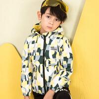 【3件3折:89元】水孩儿souhait童装男童风衣外套秋装新款儿童外套时尚撞色风衣上衣AMQ0735313