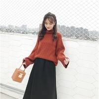 高领毛衣女冬季新款韩版百搭慵懒风宽松显瘦加厚保暖打底针织衫潮
