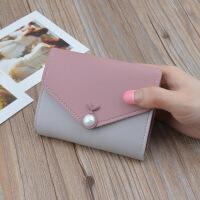 钱包女短款韩版潮学生时尚新款多功能搭扣小钱包甜美零钱包大钞夹