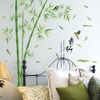 墙面装饰品墙贴纸贴画中国风个中式竹叶青竹子喜鹊复古典雅文雅致 青竹 大
