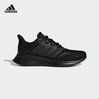 阿迪达斯(adidas)童鞋中大童跑步鞋2019新款青少年校园休闲运动鞋F36549 黑色