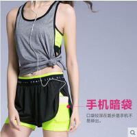 户外紧身跑步瑜珈健身服速干衣 新款运动套装女文胸背心短裤两件套
