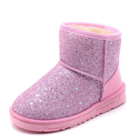 儿童雪地靴新款男童棉鞋韩版宝宝保暖亮片公主靴女童短靴