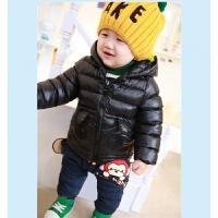 男童连帽棉衣外套加厚款2童装装宝宝4儿童羽绒棉袄1-3岁5潮