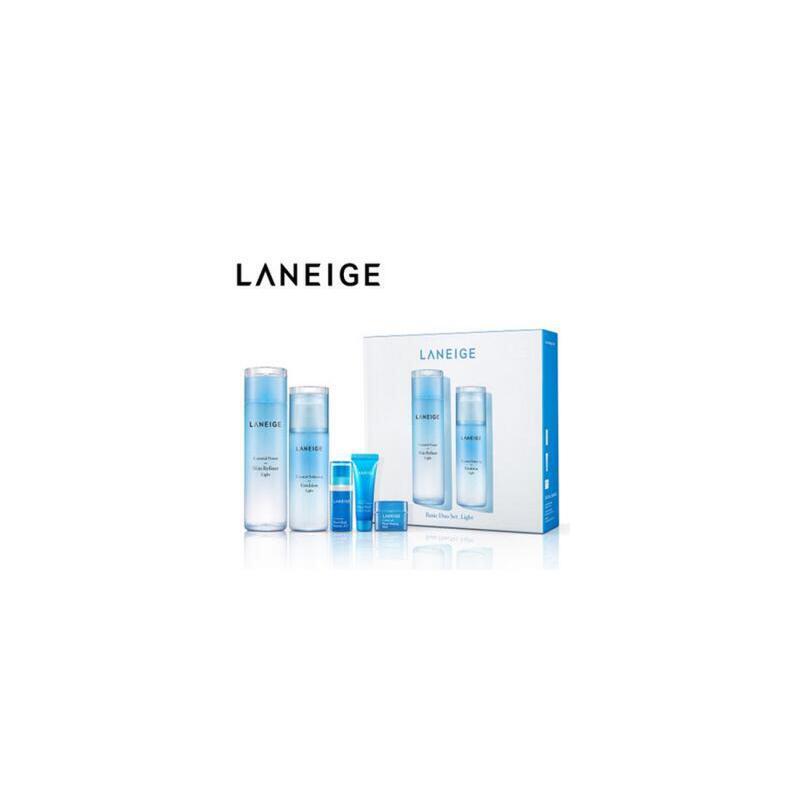 韩国 Laneige/兰芝 水凝保湿水乳2件套装 夏季护肤 防晒补水保湿 可支持礼品卡