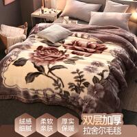 君别商场被子冬天单人珊瑚绒毯子冬季双层加厚保暖法兰绒毛毯垫床宿舍学生午睡 双层加厚200X230cm 约9斤
