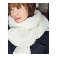 韩版毛线围巾女秋冬季针织长款加厚情侣粗围巾学生软妹保暖围脖男