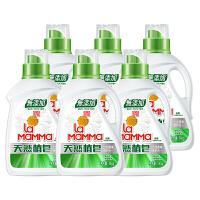 妈妈壹选天然皂液洗衣液12斤装 (1kg*6)