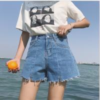 2018春夏新款韩版百搭牛仔超短裤高腰a字宽松显瘦阔腿热裤女学生