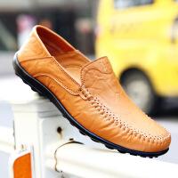 豆豆鞋男鞋秋冬休闲鞋牛皮休闲皮鞋男士大码英伦男
