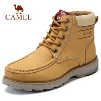 camel骆驼男鞋 秋季新款高帮时尚复古厚底磨砂工装靴子男
