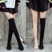 春秋冬季韩版平底长筒靴女弹力靴显瘦过膝长靴平跟高筒百搭女靴子