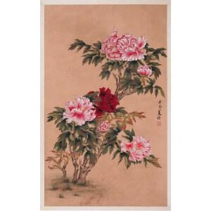 政治家、外交家   宋美龄《花卉》