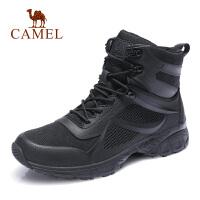 camel骆驼男鞋 秋季新款潮流嘻哈靴复古工装靴皮质高帮潮流休闲靴