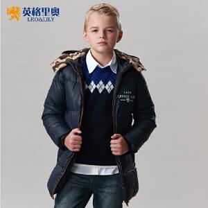 儿童羽绒服带帽中长款英格里奥新款 男童休闲羽绒服1761