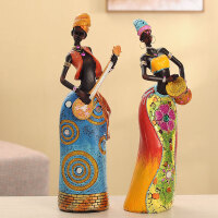 特色摆件家居饰品非洲人物装饰品欧式电视柜摆设新房客厅工艺品