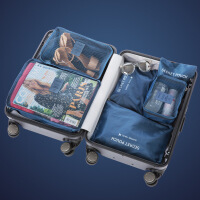 新款旅行收纳袋行李箱衣服整理包皮箱旅游鞋子衣物收纳内衣整理袋套装