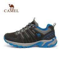 camel骆驼户外徒步鞋 男女情侣款反绒皮徒步鞋